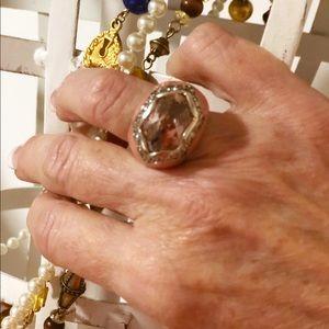 Large Pink Quartz Stone Diamond Setting 6.5 L925 S